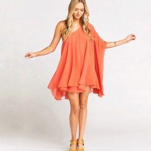 Orange Mumu Dress